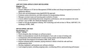Asp Net Mvc Developer Resume Sample asp Net Mvc Developer Resume February 2021