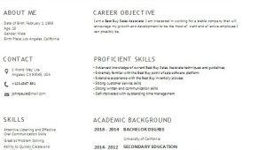 Best Buy Sales associate Resume Sample Best Buy Sales associate Resume Example