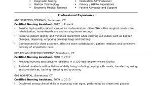Cna Certified Nursing assistant Resume Sample Cna Resume Examples: Skills for Cnas Monster.com