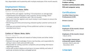 Employee Of the Month Resume Sample Cashier Resume Sample & Template [2021 Guide] – Jofibo