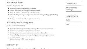 Entry Level Bank Teller Resume Sample Bank Teller Resume Examples & Writing Tips 2021 (free Guide)
