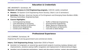Entry Level Civil Engineer Resume Sample Sample Resume for An Entry-level Civil Engineer Monster.com