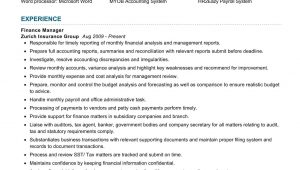 Finance and Administration Manager Resume Sample Finance Manager Resume Sample 2021