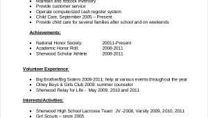 First Job High School Student Resume Sample Free 8 Resume Samples for Job In Ms Word