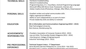 First Job Sample Resume for Fresh Graduate Resume Sample for Fresh Graduate Newest Sample Resume