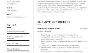 Food Production Line Worker Resume Sample Production Worker Resume Examples & Writing Tips 2021 (free Guide)