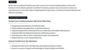 High School Football Coach Resume Sample Football Coach Resume Examples & Writing Tips 2021 (free Guide)
