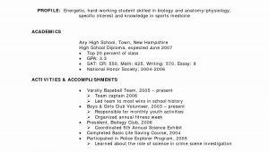 High School Resume No Work Experience Sample Pin On Resume