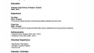 High School Student First Job Resume Sample Resume Examples Sample Resume High School No Work Experience First …