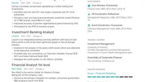 Investment Banking Business Analyst Sample Resume Investment Banking Analyst Resume: 8-step Ultimate Guide for 2021 …