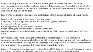 Lpn Sample Resume and Cover Letter Lpn Cover Letter Examples, Samples & Templates Resume.com
