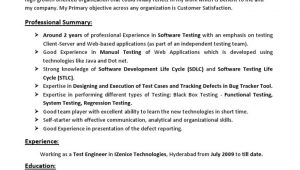 Manual Testing Resume Sample for 2 Years Experience Jayaprakash Resume 2years Exp Manual Testing Pdf software …