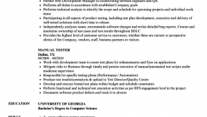 Manual Testing Sample Resumes for Experienced Download Manual Testing Resume Sample for 5 Years