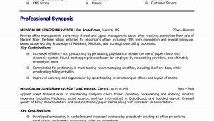 Medical Billing and Coding Internship Resume Samples 11 Medical Billing Resume Example Collection