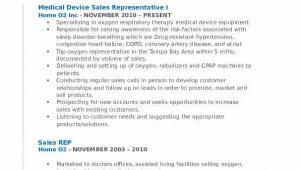 Medical Device Sales Representative Resume Sample Medical Device Sales Representative Resume Samples