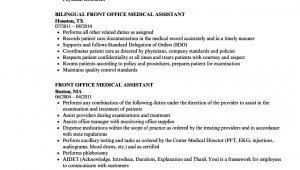 Medical Front Office assistant Resume Sample Front Fice Medical assistant Resume Samples