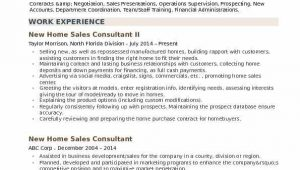New Home Sales Consultant Resume Sample New Home Sales Consultant Resume Samples