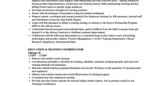 On the Job Training Resume Sample Resume Examples for Training Specialist Training