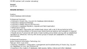 Oracle forms and Reports Sample Resume oracle Dba Resume Sample oracle Database
