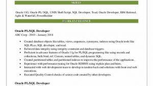 Oracle Pl Sql Developer Resume Sample Pl Sql Developer Resume Samples