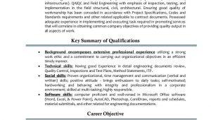 Qa Qc Electrical Engineer Resume Sample Qa Qc Engineer Cv