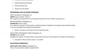 Resume Part Time Job Sample Student Teen Resume Examples with Writing Tips