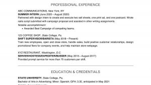 Resume Sample for A College Student College Student Resume Example and Writing Tips