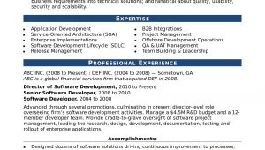 Resume Samples for Experienced software Professionals Sample Resume for An Experienced It Developer Monster.com