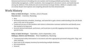 Ruby On Rails Developer Resume Sample Ruby On Rails Developer Resume Generator & Samples Rocket Resume