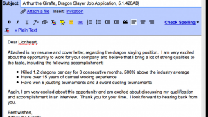 Sample Email Body Text for Sending Resume Emailing Resume
