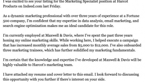 Sample Email Cover Letter with Resume attached for Freshers attached Resume Email Cover Letter Sample
