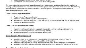 Sample Job Objectives for A Resume Free 9 Sample Resume Objective Templates In Pdf