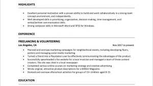 Sample Objectives for Resumes with No Job Experience How to Write A Resume with No Work Experience – Resumeway