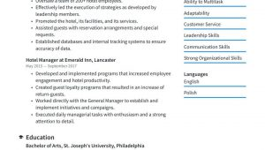 Sample Of Objectives In Resume for Hotel and Restaurant Management Hotel Management Resume Examples & Writing Tips 2021 (free Guide)