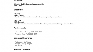 Sample Of Resume for High School Graduate with No Experience Sample Resume for High School Student with No Experience
