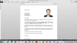 Sample Of Resume with 2×2 Picture Sample Application Letter with 2×2 Picture – B110 Merchandise …