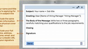 Sample Of Sending Resume Through Email Sample Email Cover Letter Message for A Hiring Manager