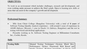 Sample Qa Tester Resume for Banking Domain Testing Resume Sample – Good Resume Examples