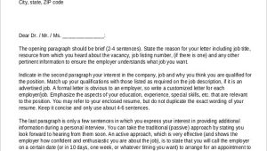 Sample Resume Cover Letter for It Job Free 8 Sample Resume Cover Letter formats In Ms Word
