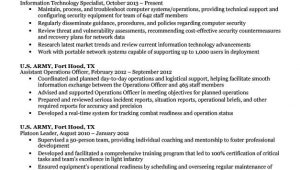 Sample Resume for A Military to Civilian Transition Sample Resume for A Militarytocivilian Transition Expert