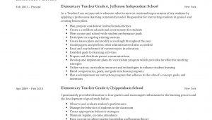 Sample Resume for A New Elementary School Teacher Teacher Resume & Writing Guide 12 Samples Pdf