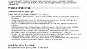 Sample Resume for Administration Manager In India Administration Manager Resume Samples
