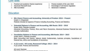 Sample Resume for Banking and Finance Fresh Graduate Finance Graduate Cv Example Land A top Job