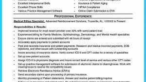 Sample Resume for Billing Executive In Hospital Medical Biller Resume Examples Awesome Exciting Billing Specialist …