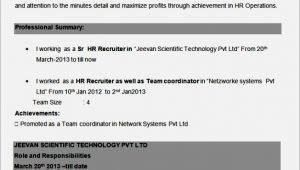Sample Resume for Bpo Non Voice Freshers Resume format for Bpo Non Voice