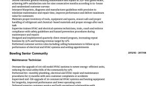 Sample Resume for Building Maintenance Technician Maintenance Technician Resume Samples All Experience Levels …