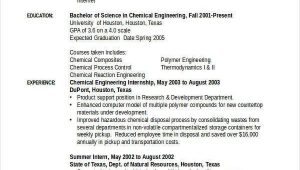 Sample Resume for Chemical Engineering Internship Chemical Engineering Internship Resume Samples Klauuuudia