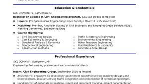 Sample Resume for Civil Engineer Internship Sample Resume for An Entry-level Civil Engineer Monster.com