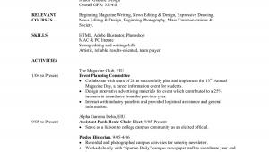 Sample Resume for College Student Applying for Internship Student Resume Example Sample College Internship Samples