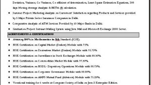 Sample Resume for Commercial Manager In India Resume format for Mercial Manager
